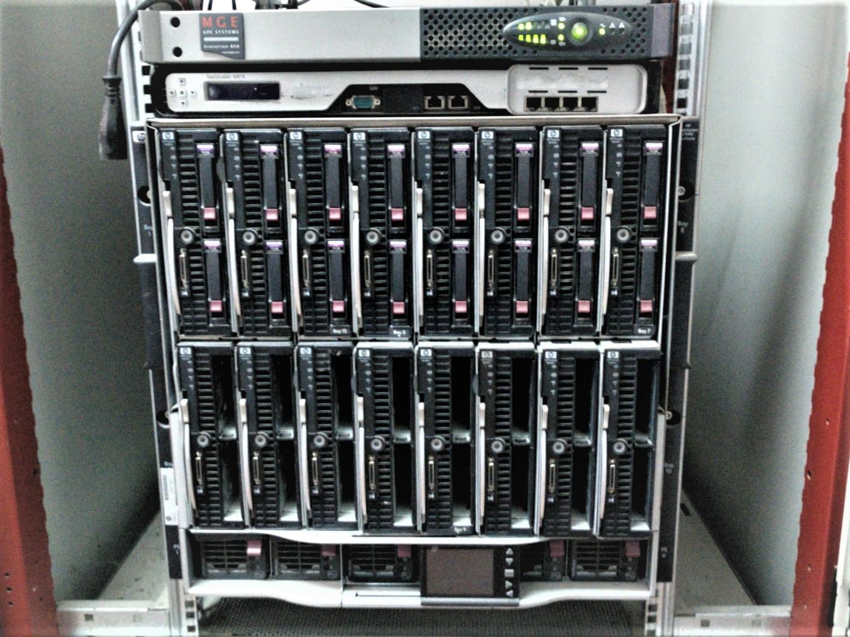 Servidor BLADE preparado para la ejecución de copias de seguridad.